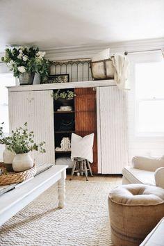 Massive White Farmhouse Cabinet