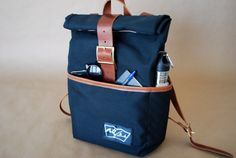 The Navy Canvas Backpack with Laptop Sleeve