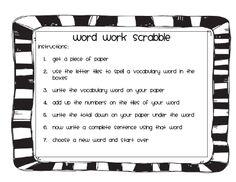 Word Work Part 2 and Freebie