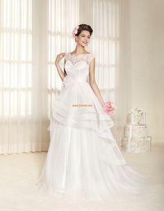 Court uszály Klasszikus és időtálló Cipzár Menyasszonyi ruhák 2015
