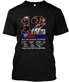 47d1c161 12 Years The Big Bang Theory Thank You for The Memories Shirt Unisex T-Shirt