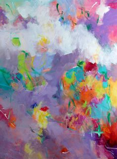 Colorful Large Abstract Painting by kerriblackmanfineart on Etsy