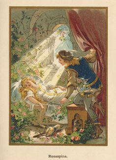 Sleeping Beauty -- Fairytale Illustration