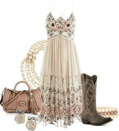 Country girls meets chic. Love this, perfect for date night, or church!