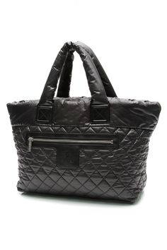 Chanel Black Quilted Nylon Coco Cocoon Tote Bag