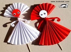 Baba Marta martenici paper - dolls made from rosettes and a few other ideas using rosettes