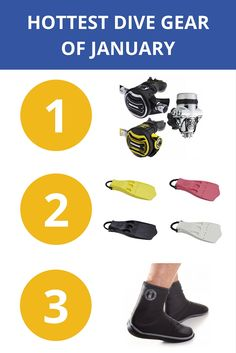 The hottest dive gear of January Diving, Gears, Hot, Check, Scuba Diving, Gear Train