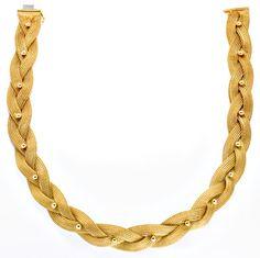Foto 3, Goldkollier Strumpf-Goldkette Geflochten 18K/750 Luxus!, K2924