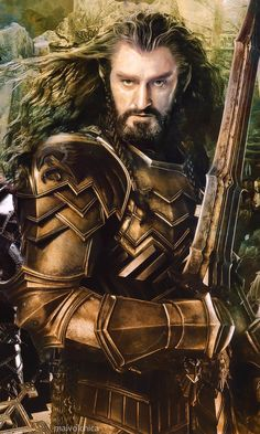 Richard Armitage as Thorin Oakenshield in The Hobbit: The Battle of the Five Armies.