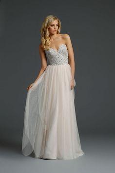 Alvina Valenta strapless wedding dress