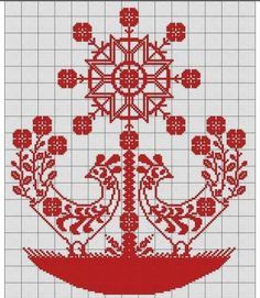 This Pin was discovered by And Russian Embroidery, Embroidery Hearts, Folk Embroidery, Hand Embroidery Designs, Embroidery Stitches, Embroidery Patterns, Cross Stitch Bird, Cross Stitching, Cross Stitch Patterns