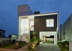 eh!DÉCOR: Fachadas de casas modernas com revestimento em porcelanato.