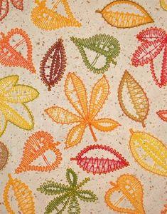 Embroidery Project 13 gallery - FSL bobbin-lace look autmn leaves