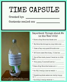 FOR GOAL SETTING; QUOTES, ETC. Time capsules... for futuristic time travel.