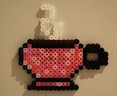 perler bead coffee cup