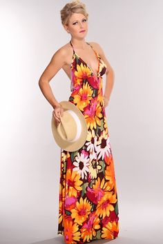 Orange Floral Halter Open Back Maxi Dress @ Amiclubwear sexy dresses,sexy dress,prom dress,summer dress,spring dress,prom gowns,teens dresses,sexy party wear,women's cocktail dresses,ball dresses,sun dresses,trendy dresses,sweater dresses,teen clothing,ev