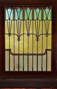 LOVE!!     Art Nouveau Stained Glass Window by ... | Art Nouveau & Deco Stained ...