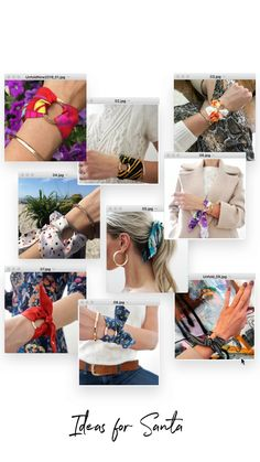 Christmas present ideas - Silk Accessories , Fabric Bracelets, Handmade Bracelets, Necklace Tutorial, Diy Necklace, Fabric Flower Headbands, Crochet Brooch, Hand Bracelet, Accesorios Casual, Unique Gifts For Her