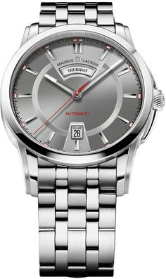 Maurice Lacroix Watch Pontos Day Date #bezel-fixed #bracelet-strap-steel #brand-maurice-lacroix #case-material-steel #case-width-40mm #date-yes #day-yes #delivery-timescale-call-us #dial-colour-grey #gender-mens #movement-automatic #official-stockist-for-maurice-lacroix-watches #packaging-maurice-lacroix-watch-packaging #subcat-pontos #supplier-model-no-pt6158-ss002-231 #warranty-maurice-lacroix-official-2-year-guarantee #water-resistant-50m