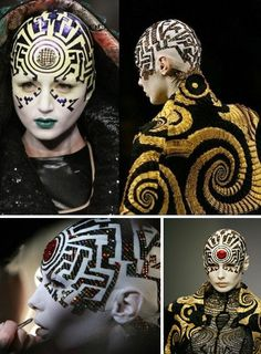 WoW!!!! wish someone would make me up like this!!!!  Retrofuture Fashion: Dressing For Tomorrow, Yesterday