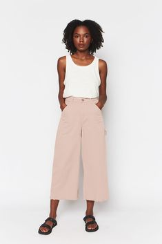 4a750e5b9c8a Lovely soft relaxed fit organic cotton twill painter pants in cherry by Back  Beat Rags.