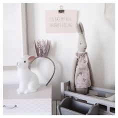 Woodland rabbit night light and Maileg bunny / tandlakarvillan on Instragram