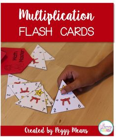 Multiplication and Division facts mastery is accelerated through the use of these triangle flash cards and engaging activities. Math Fact Fluency, Teaching Multiplication, Multiplication And Division, Division Flash Cards, Math Flash Cards, Fun Math, Math Activities, Teaching Resources, Commutative Property