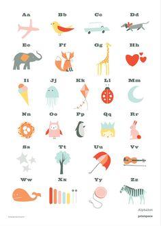 Printspace alphabet poster via Wee Birdy for Kidspot.