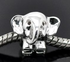 Sterling Silver 925 Elephant Charm Bead [B15220] - $18.00 : Get Me Beads!, Get Affordable Beads