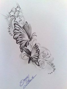butterfly tattoo.... would like something like this in memory of my mom & nana, want to incorporate their names into the design of the butterfly wing and add the infinity symbol