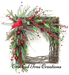 Best No Cost christmas wreaths Suggestions 'Ienc in which month or year again! This specific Christmas time, most people desire to be not just your ticketing pa Diy Christmas Ornaments, Holiday Wreaths, Rustic Christmas, Christmas Decorations, Christmas Holiday, Winter Wreaths, Christmas Cactus, Spring Wreaths, Christmas Music