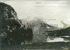 Della Lake near Port Alberni, 1912-1916.  Photographer: Leonard Frank.  [Alberni Valley Museum Historic Photo Collection A1.39]