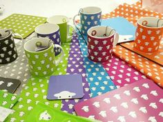 Final colour checks on our latest range of Herdy goodies.