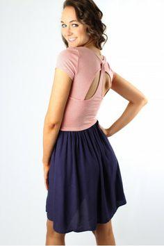 Striped Colorblock Dress $39.99 #sophieandtrey #dresses #colorblock #stripes #cutout