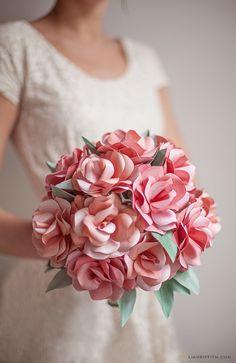 Como hacer flores de papel resultonas - El tarro de ideasEl tarro de ideas