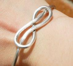 Hand Made Infinity Symbol Bangle Bracelet