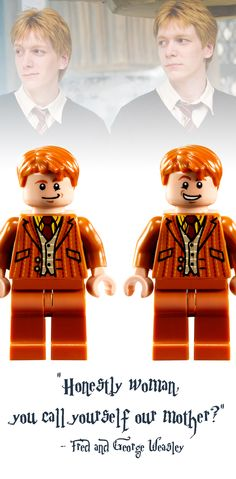 Fred and George Weasley Lego Minifigure - Harry Potter Collectibles