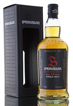 The tenth batch of Springbank's ever popular 12 year old cask strength whisky. A ratio of 70% sherry cask, 30% bourbon cask used to create this limited release. Bottled at 53.2% vol. Springbank Whisky, Whisky Shop, Scotch Whisky, Wine And Beer, Stay The Night, 12 Year Old, Bourbon, Whiskey Bottle, Strength