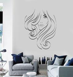 Vinyl Decal Beauty Salon Hair Stylist Spa Woman Barbershop Wall Stickers (ig2615)