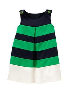Colorblock ponte empire dress | Gap  Oh my goodness! Love this! This would be so sweet for St Paddy's day!