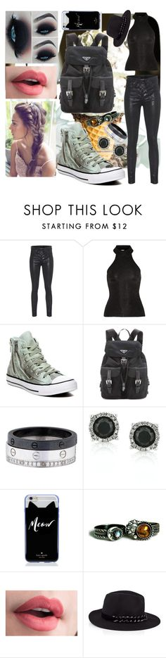 """""""Mint"""" by sophia-pawz ❤ liked on Polyvore featuring rag & bone, Yves Saint Laurent, Converse, Prada, Cartier, Mark Broumand, Kate Spade, Karl Lagerfeld and 2016"""