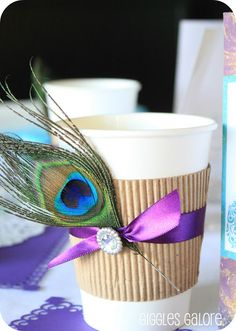 Fancy Peacock Cups - Giggles Galore