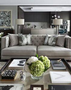 Nadire Atas on Elegant Living Rooms Learn how to easily make your living room look and feel more luxurious with these key ideas Elegant Living Room, Elegant Home Decor, Living Room Modern, Home Living Room, Apartment Living, Interior Design Living Room, Living Room Designs, Modern Decor, Small Living