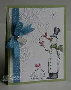 Well, I guess two out of three aint bad! Another creation using the Snow Much Fun set along with the Northern Flurry Embossing Folder . T...