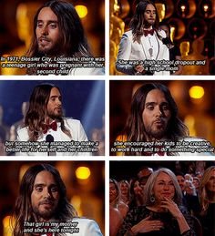 And more than anything, because he gushed about his mom:   27 Reasons Jared Leto Was The Absolute Best Person During All Of Awards Season