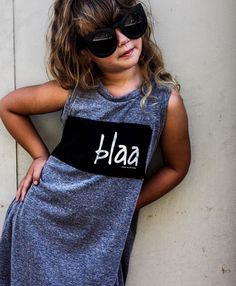 For a relaxed yet stylish look, this dress is perfect for your toddler!!  Shop www.weemonster.net.  #weemonster #kidswear #alternativeclothing #dresses #streetstyle #coolkid #original