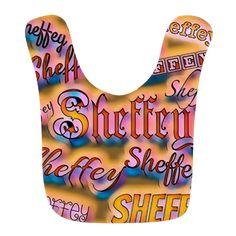 Sheffey Neon Pop Art Fonts - 9647 Baby Bib