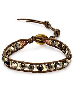 Chan Luu Beaded Leather Bracelet