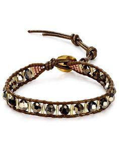 Chan Luu Beaded Leather Bracelet