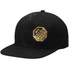 Men's Reebok Black UFC Champion Authentic Fighter's Snapback Adjustable Hat